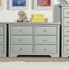 Graco Double Dresser Espresso by Graco Brooklyn 6 Drawer Double Dresser In Pebble Gray 03546 31f