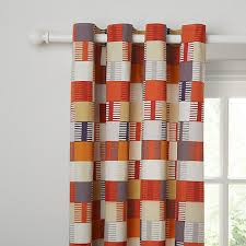 Lined Curtains John Lewis by Buy Scion Navajo Lined Eyelet Curtains Orange Online At Johnlewis