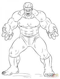 Adult Hulk Coloring Page Printable Pages Pageincredible