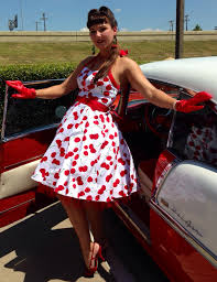 1950s Youth Fashions Hot Rod Pin Up Dress The Wild Cherries