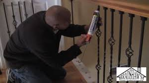 How To Install Stair Spindles - YouTube Stalling Banister Carkajanscom Banister Spindle Replacement Replacing Wooden Stair Balusters Model Staircase Spindles For How To Replace Pating The Stair Stairs Astounding Wrought Iron Unique White Back Best 25 Black Ideas On Pinterest Painted Showroom Saturn Stop The Uks Ideas Top Latest Door Design Decorations Outdoor Railing Indoor Remodelaholic Renovation Using Existing Newel Fresh Rail And