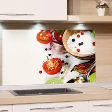 grazdesign küchen rückwand weiß glas bild spritzschutz herd