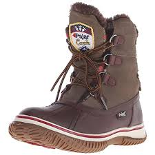 pajar 8624 womens iceberg suede waterproof faux fur winter boots