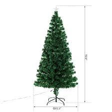 Christmas Tree 6ft Pre Lit by Homcom 6ft Pre Lit Led Optical Fiber Christmas Tree Artificial