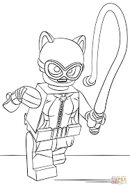 Catwoman Coloring Pages Lego Page Free Printable Gallery Ideas