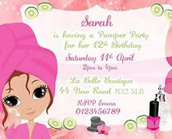 T S M L F Party Invitation Template Pamper Invitations In Addition To Redesign Your 13