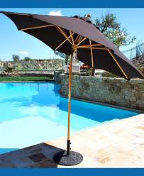 Solar Lighted Offset Patio Umbrella by Offset Patio Umbrella With Led Lights Nucleus Home