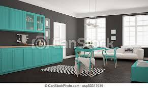 minimalist türkis wohnzimmer modern skandinavisch essen