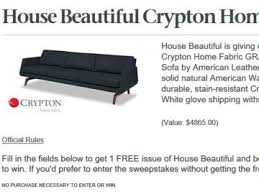 Crypton Super Fabric Sofa by Beautiful Crypton Home Fabric Sweepstakes