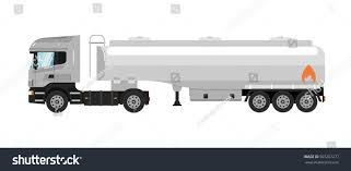 100 Tank Truck Commercial Fuel Isolated On Stock Vector Royalty Free