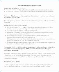 Writing An Objective On Resume Awesome Good Statement For Examples