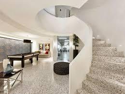 Architect Designed House Spiral Staircase White Terrazzo Interiors Luxury Home Designer