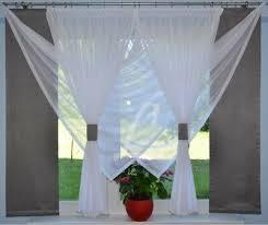 moderne gardinen komplett dekoration wohnzimmer weiß grau