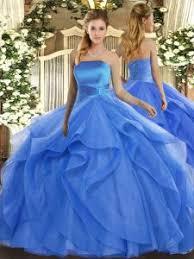 22326 10455 Sleeveless Lace Up Floor Length Ruffles Vestidos De Quinceanera