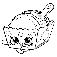 Melty Macaron Cute Shopkins Coloring Page