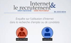 cabinet de recrutement bretagne infographie le recrutement 2 0 coté candidat et recruteurs