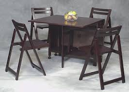 Excellent Folding Dining Table Chairs For Savvy Sollution Dark Brown Foldng Furniture Place
