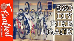 Ceiling Bike Rack For Garage by Diy Bike Rack For 20 Bike Storage Stand U0026 Cabinet For Garage
