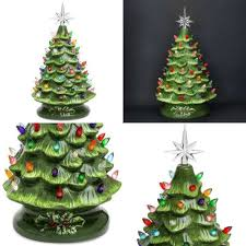 Best Choice Products Prelit Ceramic Tabletop Christmas Tree W