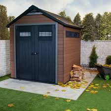 Arrow Woodridge Shed 10x12 by Keter Fusion 7 5 X 7 Ft Storage Shed Hayneedle