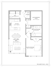 100 Liberty Residence Floor Plan Of Two 4304 Master Bedroom