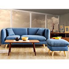 repose pied canapé canapé places avec repose pied couleur bleu bonmarche mg