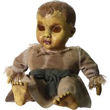 Outdoor Halloween Decorations Walmart by Haunted Doll With Sound Halloween Decoration Walmart Com