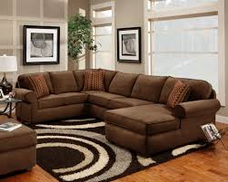 Brown Couch Decor Living Room by 7070 Washington Flat Suede Chocolate Sectional Great Living