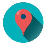 Location pointer round icon Transparent PNG & SVG vector