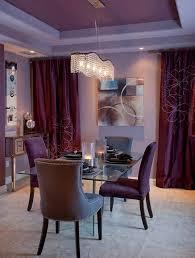 rideaux salle a manger salle à manger salle manger rideaux violet décoration de salle
