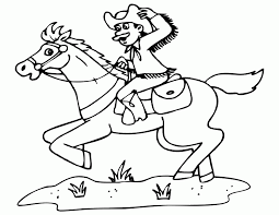Cowgirls Coloring Pages