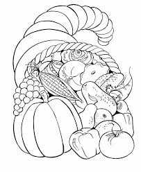 Free Coloring Pages Thanksgiving Cornucopia