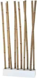 lioliving raumteiler aus bambus natur weiss über 2 meter hoch 400106