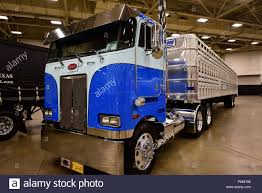 A Peterbilt Cabover Truck Is Displayed At The 2018 Great American ...