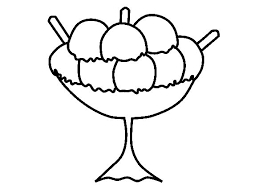 Large Size Ice Cream For Three Coloring Pages