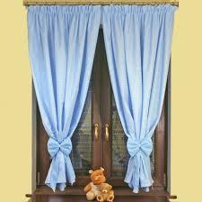 rideau pour chambre bébé pour chambre enfant vichy bleu avec une embrasse nœud