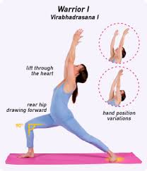 This Popular Standing Pose Virabhadrasana I Veer Uh Buh DRAHS Nuh Stretches The Whole Front Side Of Body It Also Strengthens Thighs
