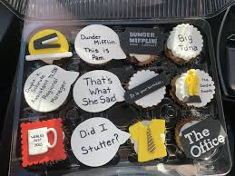 The Office Themed Marble Cupcakes