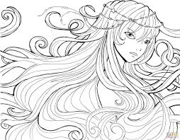 Printable Animal Coloring Pages For Adults Click Water Soul Anime Naruto Fairy