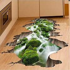 boden aufkleber vinyl diy wasserfall brook wandaufkleber für