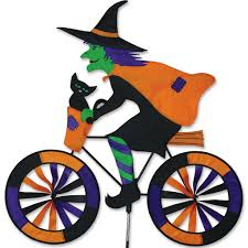 Halloween Witch Yard Stakes by Witch On A Bicycle Garden Spinner Decor Pinterest