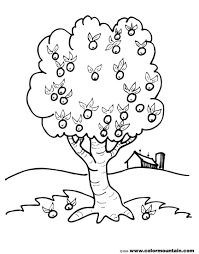 863x1100 Coloring Pages Of Apple Trees Page Simple Family Tree Template Ks1