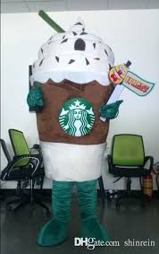 Starbucks Coffee Halloween Costume Actual Picture Cup Ice Cream Mascot Costumes Character For Party Activity