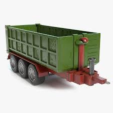 100 Toy Farm Trucks And Trailers Trailer 1 3D Model 39 Unknown Blend Dae Obj Fbx