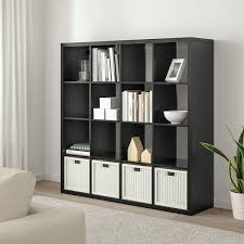 kallax shelf unit black brown 57 7 8x57 7 8 ikea
