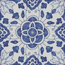 2305 portuguese wall floor ceramic blue tile azulejo baroque
