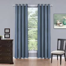 Eclipse Blackout Curtains 95 Inch by Solid Color Flat Window Curtains Sheer Blackout Curtains Living
