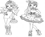 Printable Faybelle Thorn And Duchess Swan Ever After High Coloring Pages