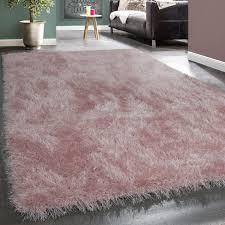 moderner wohnzimmer shaggy hochflor teppich soft garn in uni