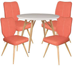 Dansk - Round Dining Table & 4 Bella Orange Dining Chairs - Our ... Ding Table And Chairs In Style Of Pierre Chapo Orange Fniture 25 Colorful Rooms We Love From Hgtv Fans Color Palette Leather Serena Mid Century Modern Chair Set 2 Eight Chinese Room Ming For Sale At Armchairs Or Side Living Solid Oak Westfield Topfniturecouk Zharong Stool Backrest Coffee Lounge Thrghout Ppare Dennisbiltcom Midcentury Brown Beech By Annallja Praun Lumisource Curvo Bent Wood Walnut Dingaccent Ch Luxury With Walls Stock Image Chair Drexel Wallace Nutting Mahogany Shield Back